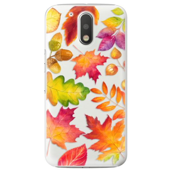 Plastové pouzdro iSaprio - Autumn Leaves 01 - Lenovo Moto G4 / G4 Plus