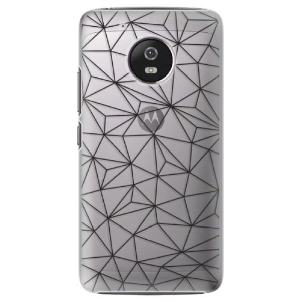 Plastové pouzdro iSaprio - Abstract Triangles 03 - black - Lenovo Moto G5