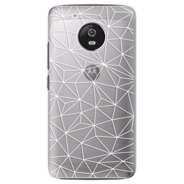 Plastové pouzdro iSaprio - Abstract Triangles 03 - white - Lenovo Moto G5