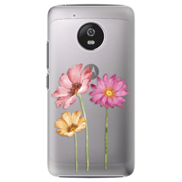 Plastové pouzdro iSaprio - Three Flowers - Lenovo Moto G5