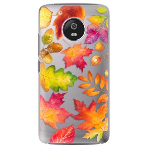 Plastové pouzdro iSaprio - Autumn Leaves 01 - Lenovo Moto G5