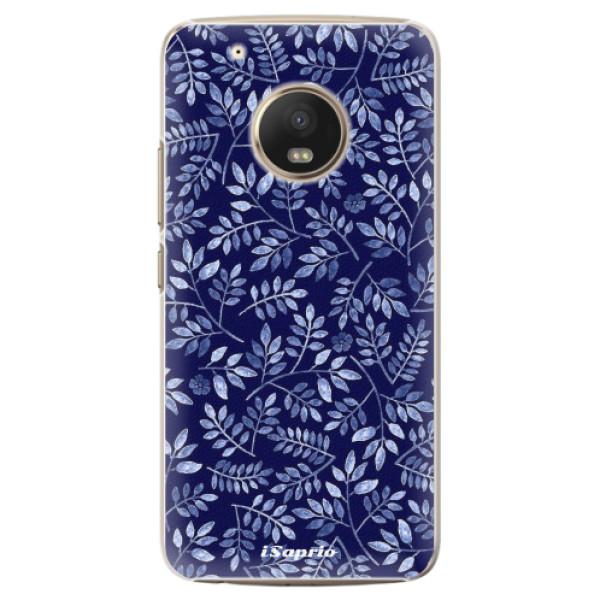 Plastové pouzdro iSaprio - Blue Leaves 05 - Lenovo Moto G5 Plus