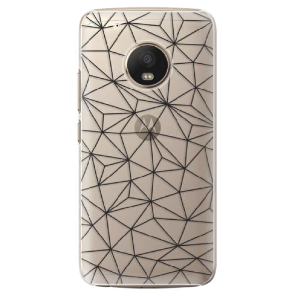 Plastové pouzdro iSaprio - Abstract Triangles 03 - black - Lenovo Moto G5 Plus