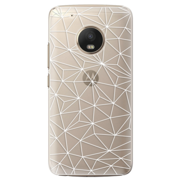 Plastové pouzdro iSaprio - Abstract Triangles 03 - white - Lenovo Moto G5 Plus