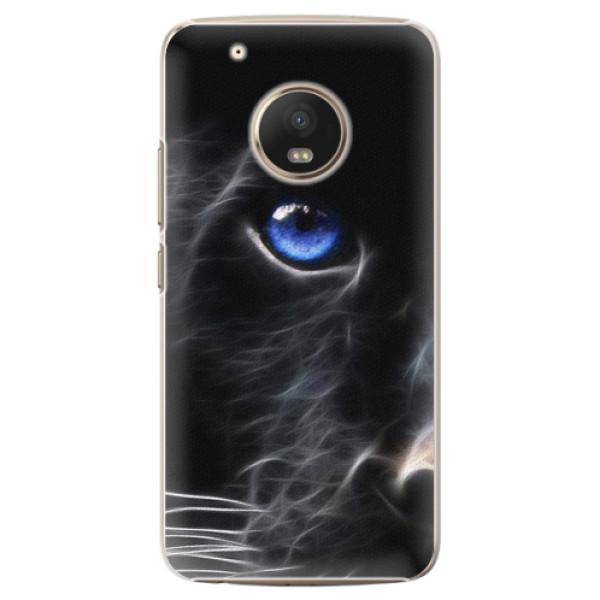 Plastové pouzdro iSaprio - Black Puma - Lenovo Moto G5 Plus