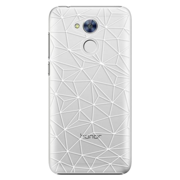Plastové pouzdro iSaprio - Abstract Triangles 03 - white - Huawei Honor 6A