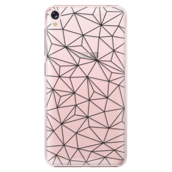 Plastové pouzdro iSaprio - Abstract Triangles 03 - black - Asus ZenFone Live ZB501KL