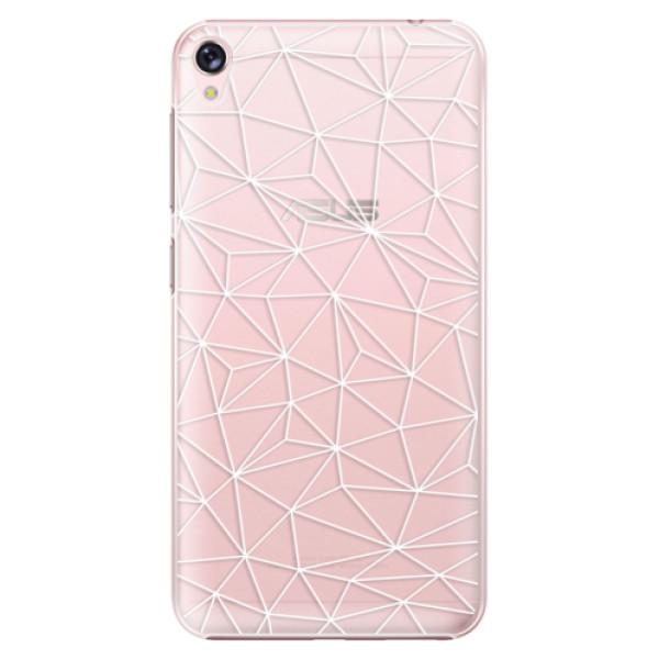 Plastové pouzdro iSaprio - Abstract Triangles 03 - white - Asus ZenFone Live ZB501KL
