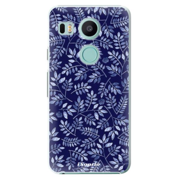 Plastové pouzdro iSaprio - Blue Leaves 05 - LG Nexus 5X