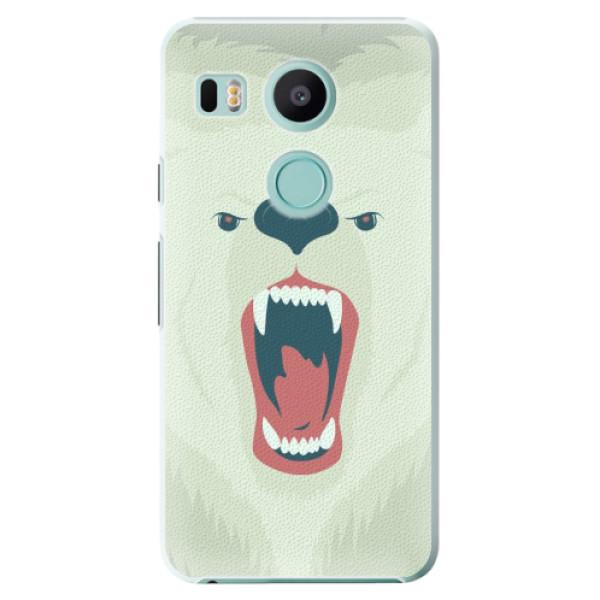 Plastové pouzdro iSaprio - Angry Bear - LG Nexus 5X