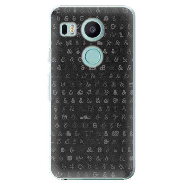 Plastové pouzdro iSaprio - Ampersand 01 - LG Nexus 5X