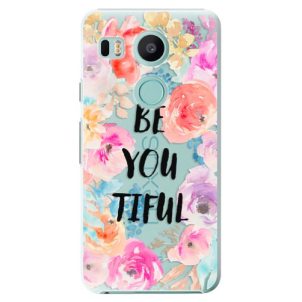 Plastové pouzdro iSaprio - BeYouTiful - LG Nexus 5X