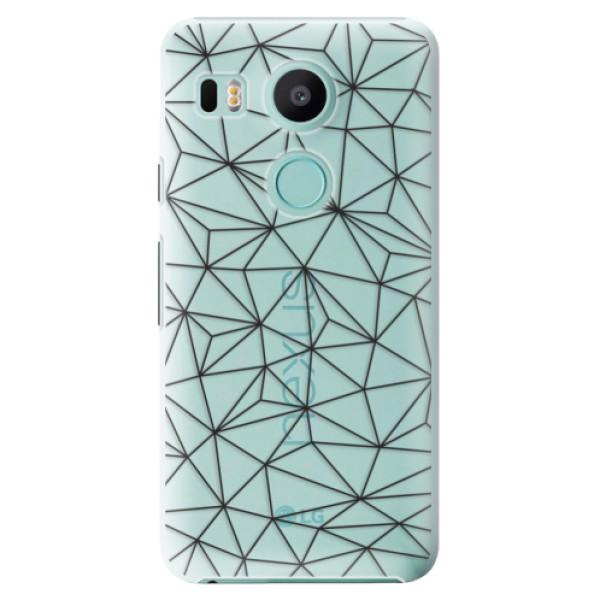 Plastové pouzdro iSaprio - Abstract Triangles 03 - black - LG Nexus 5X