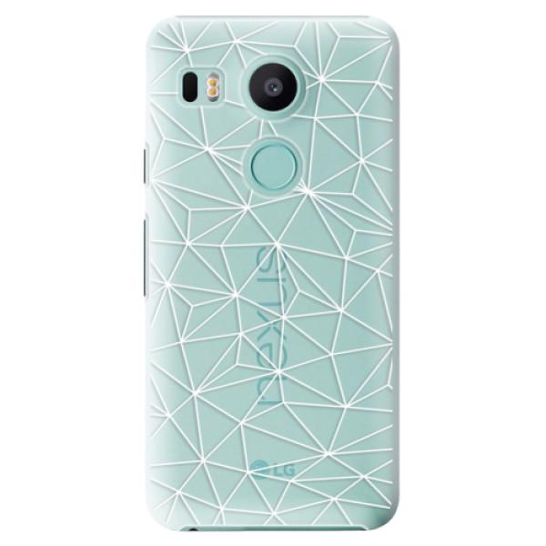 Plastové pouzdro iSaprio - Abstract Triangles 03 - white - LG Nexus 5X