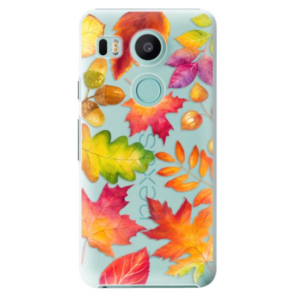 Plastové pouzdro iSaprio - Autumn Leaves 01 - LG Nexus 5X