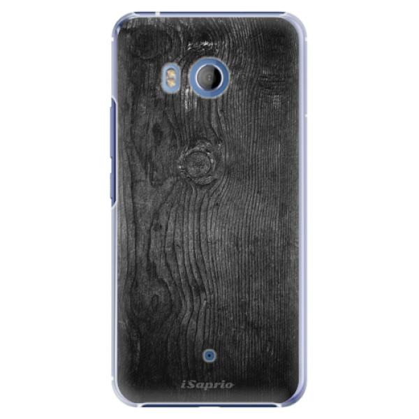 Plastové pouzdro iSaprio - Black Wood 13 - HTC U11
