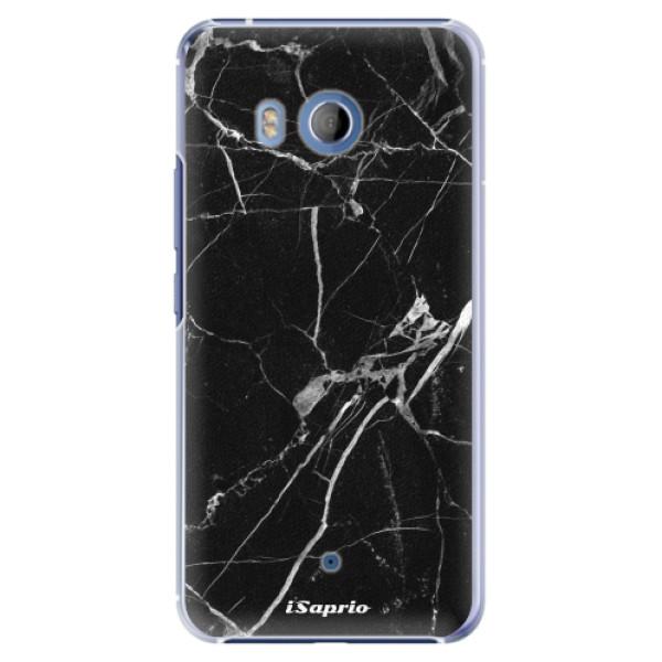 Plastové pouzdro iSaprio - Black Marble 18 - HTC U11