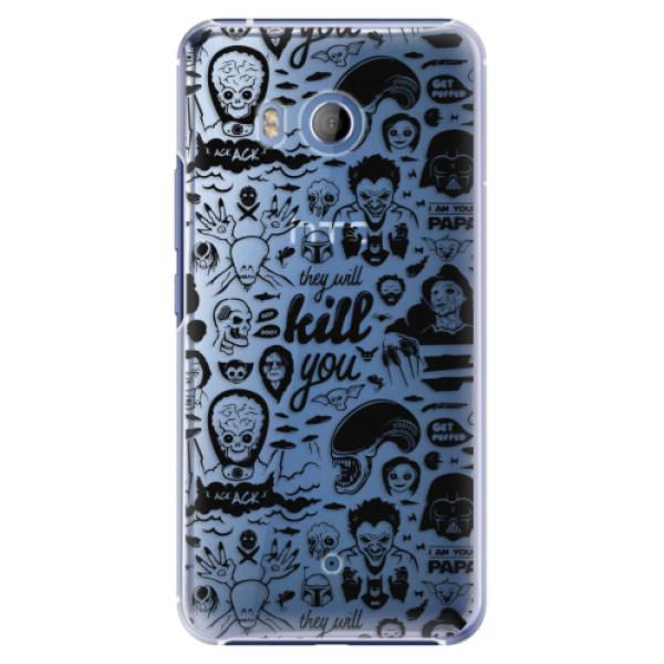 Plastové pouzdro iSaprio - Comics 01 - black - HTC U11