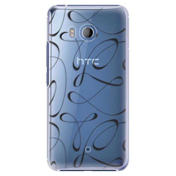 Plastové pouzdro iSaprio - Fancy - black - HTC U11
