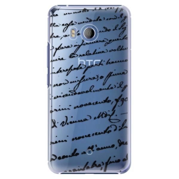 Plastové pouzdro iSaprio - Handwriting 01 - black - HTC U11