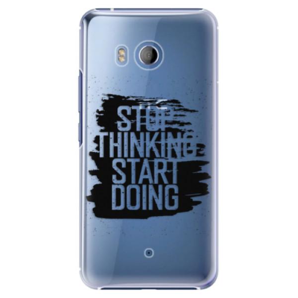Plastové pouzdro iSaprio - Start Doing - black - HTC U11