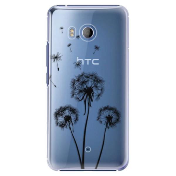 Plastové pouzdro iSaprio - Three Dandelions - black - HTC U11