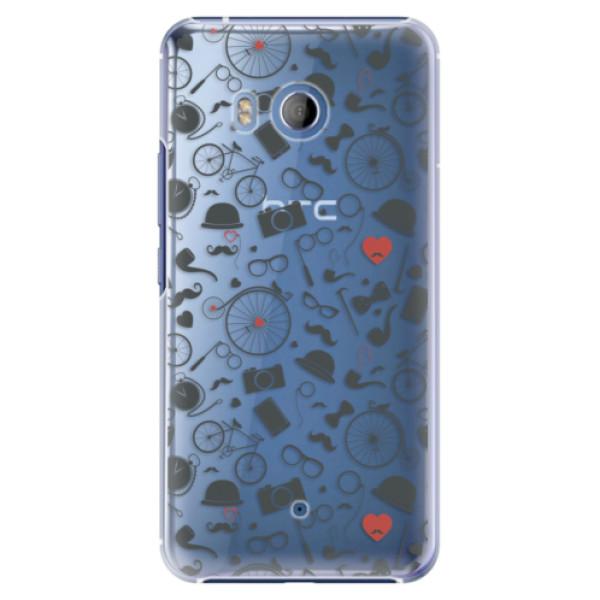 Plastové pouzdro iSaprio - Vintage Pattern 01 - black - HTC U11