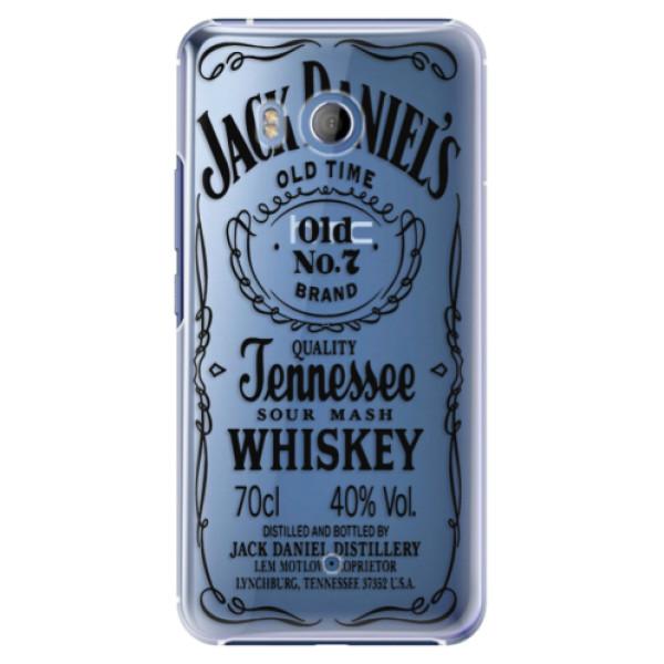 Plastové pouzdro iSaprio - Transparent Black Jack - HTC U11