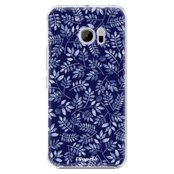 Plastové pouzdro iSaprio - Blue Leaves 05 - HTC 10