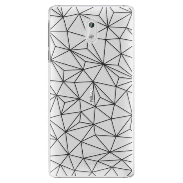 Plastové pouzdro iSaprio - Abstract Triangles 03 - black - Nokia 3
