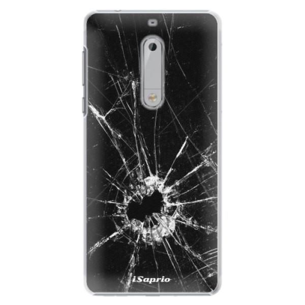Plastové pouzdro iSaprio - Broken Glass 10 - Nokia 5