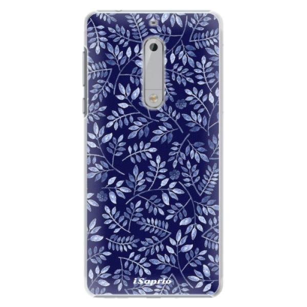 Plastové pouzdro iSaprio - Blue Leaves 05 - Nokia 5