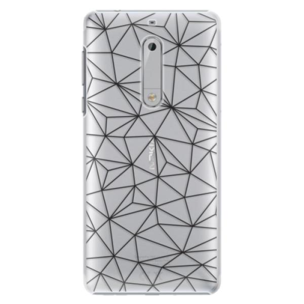 Plastové pouzdro iSaprio - Abstract Triangles 03 - black - Nokia 5