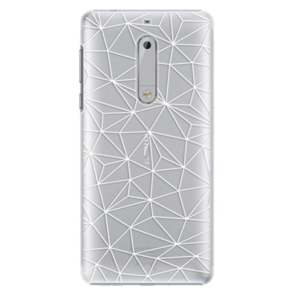 Plastové pouzdro iSaprio - Abstract Triangles 03 - white - Nokia 5