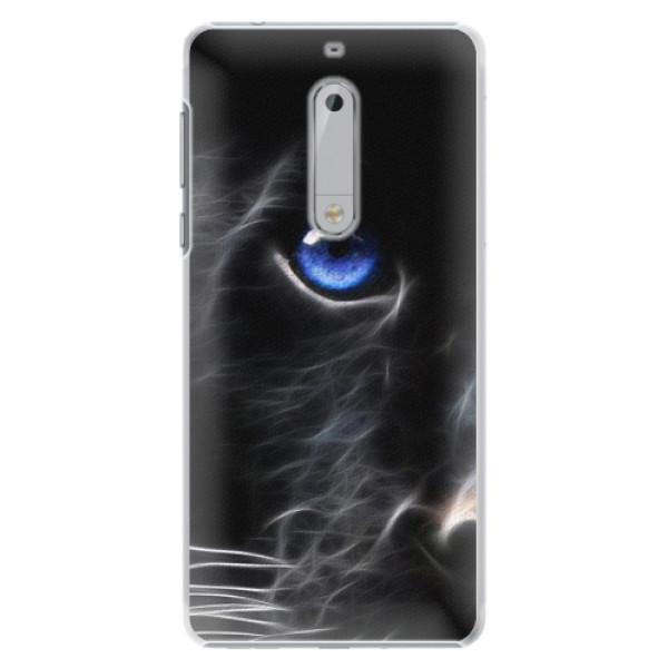 Plastové pouzdro iSaprio - Black Puma - Nokia 5