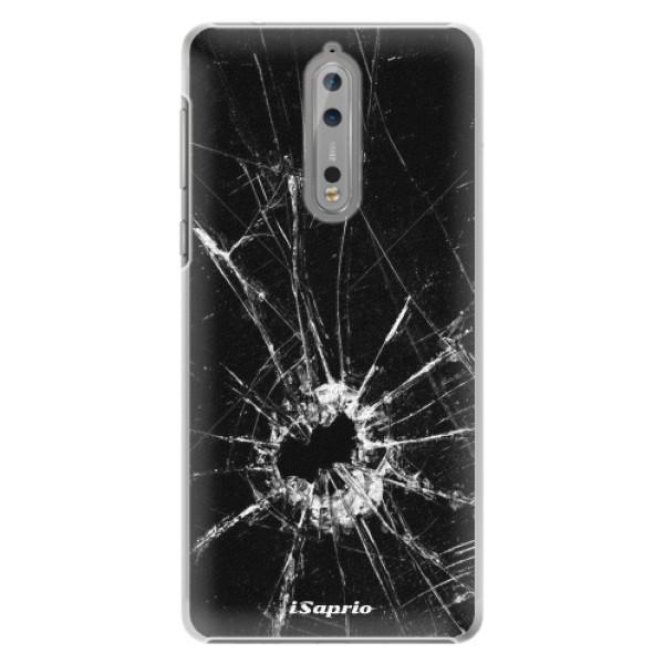 Plastové pouzdro iSaprio - Broken Glass 10 - Nokia 8