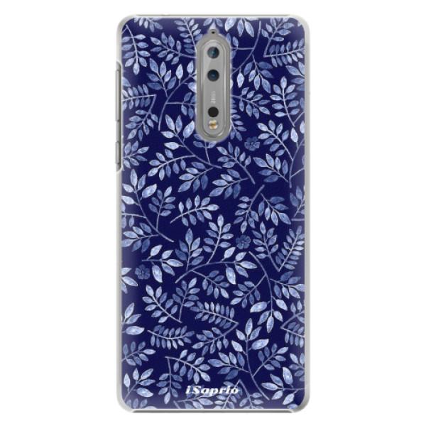Plastové pouzdro iSaprio - Blue Leaves 05 - Nokia 8
