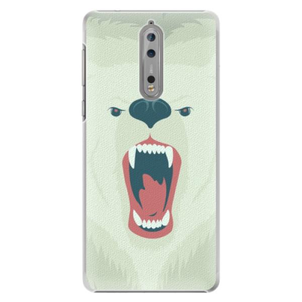 Plastové pouzdro iSaprio - Angry Bear - Nokia 8
