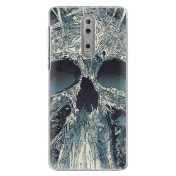 Plastové pouzdro iSaprio - Abstract Skull - Nokia 8
