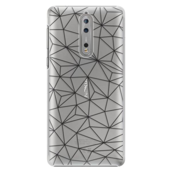 Plastové pouzdro iSaprio - Abstract Triangles 03 - black - Nokia 8