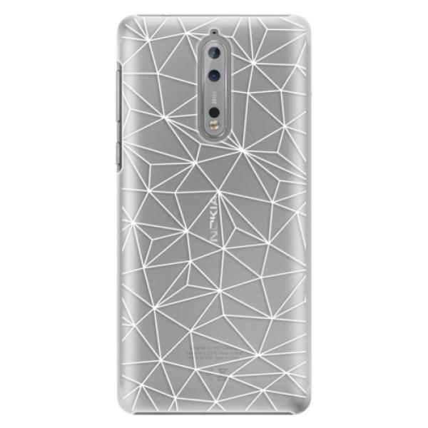 Plastové pouzdro iSaprio - Abstract Triangles 03 - white - Nokia 8
