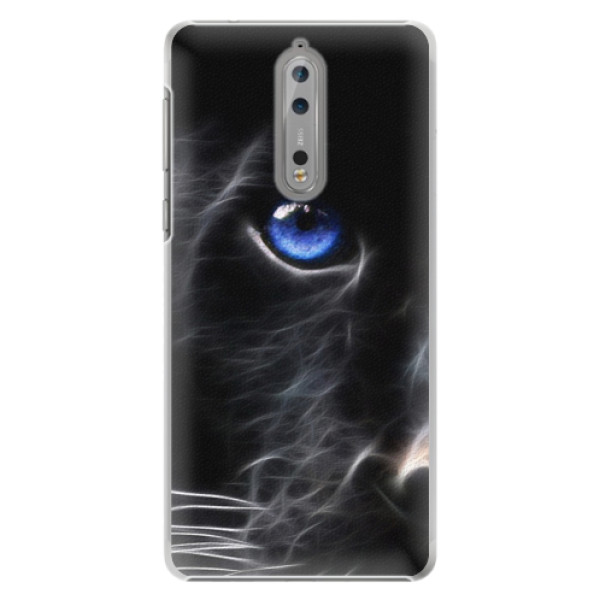Plastové pouzdro iSaprio - Black Puma - Nokia 8