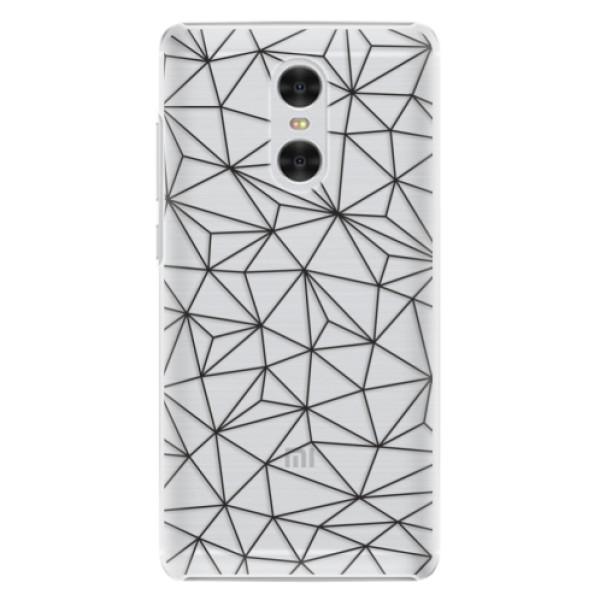 Plastové pouzdro iSaprio - Abstract Triangles 03 - black - Xiaomi Redmi Pro