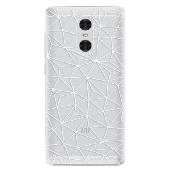 Plastové pouzdro iSaprio - Abstract Triangles 03 - white - Xiaomi Redmi Pro
