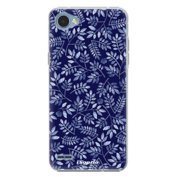 Plastové pouzdro iSaprio - Blue Leaves 05 - LG Q6