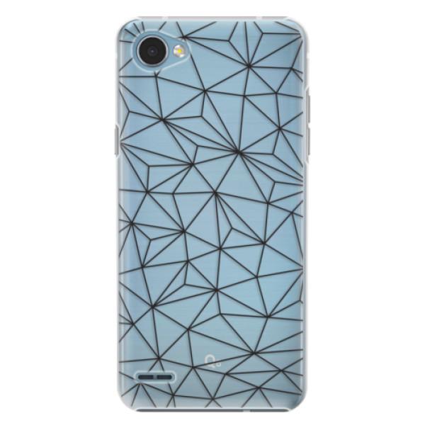 Plastové pouzdro iSaprio - Abstract Triangles 03 - black - LG Q6