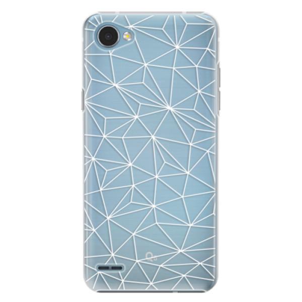 Plastové pouzdro iSaprio - Abstract Triangles 03 - white - LG Q6