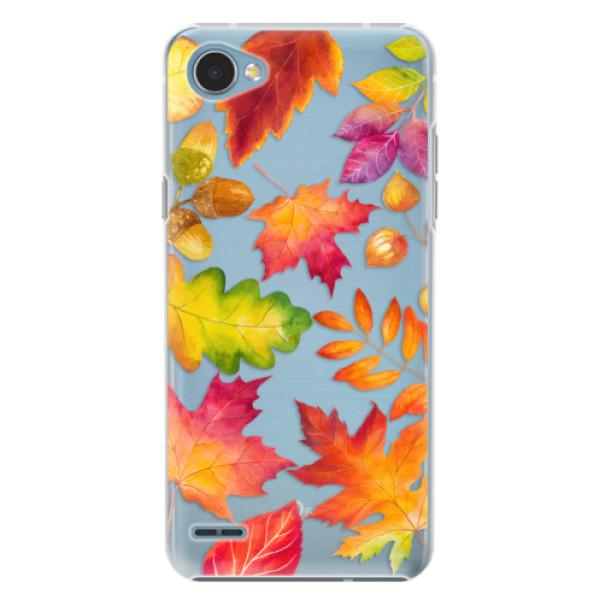 Plastové pouzdro iSaprio - Autumn Leaves 01 - LG Q6