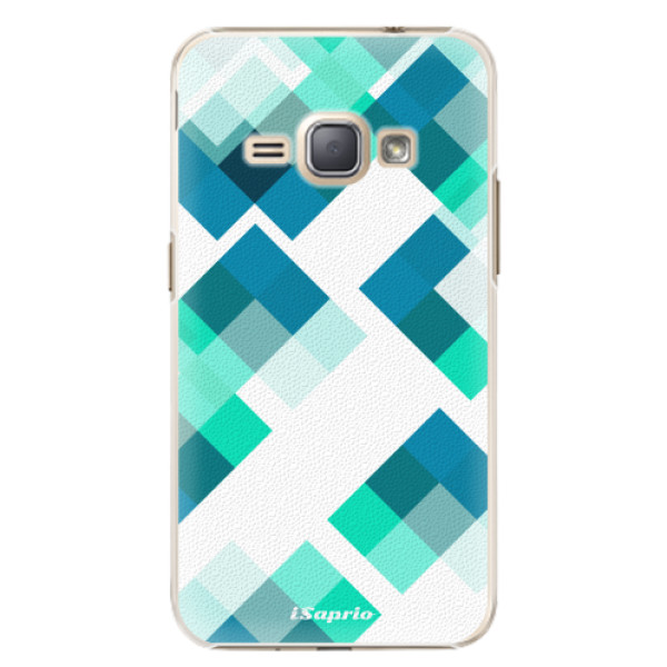 Plastové pouzdro iSaprio - Abstract Squares 11 - Samsung Galaxy J1 2016