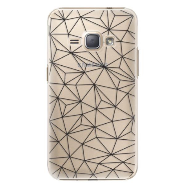 Plastové pouzdro iSaprio - Abstract Triangles 03 - black - Samsung Galaxy J1 2016